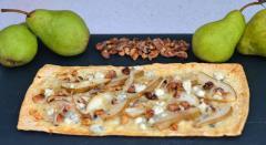 Pear, Walnut, and Blue Cheese Flatbread