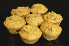 Peanut Butter, Banana, and Chocolate Chip Muffins with Flax