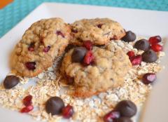 Dark Chocolate Pomegranate Cookies